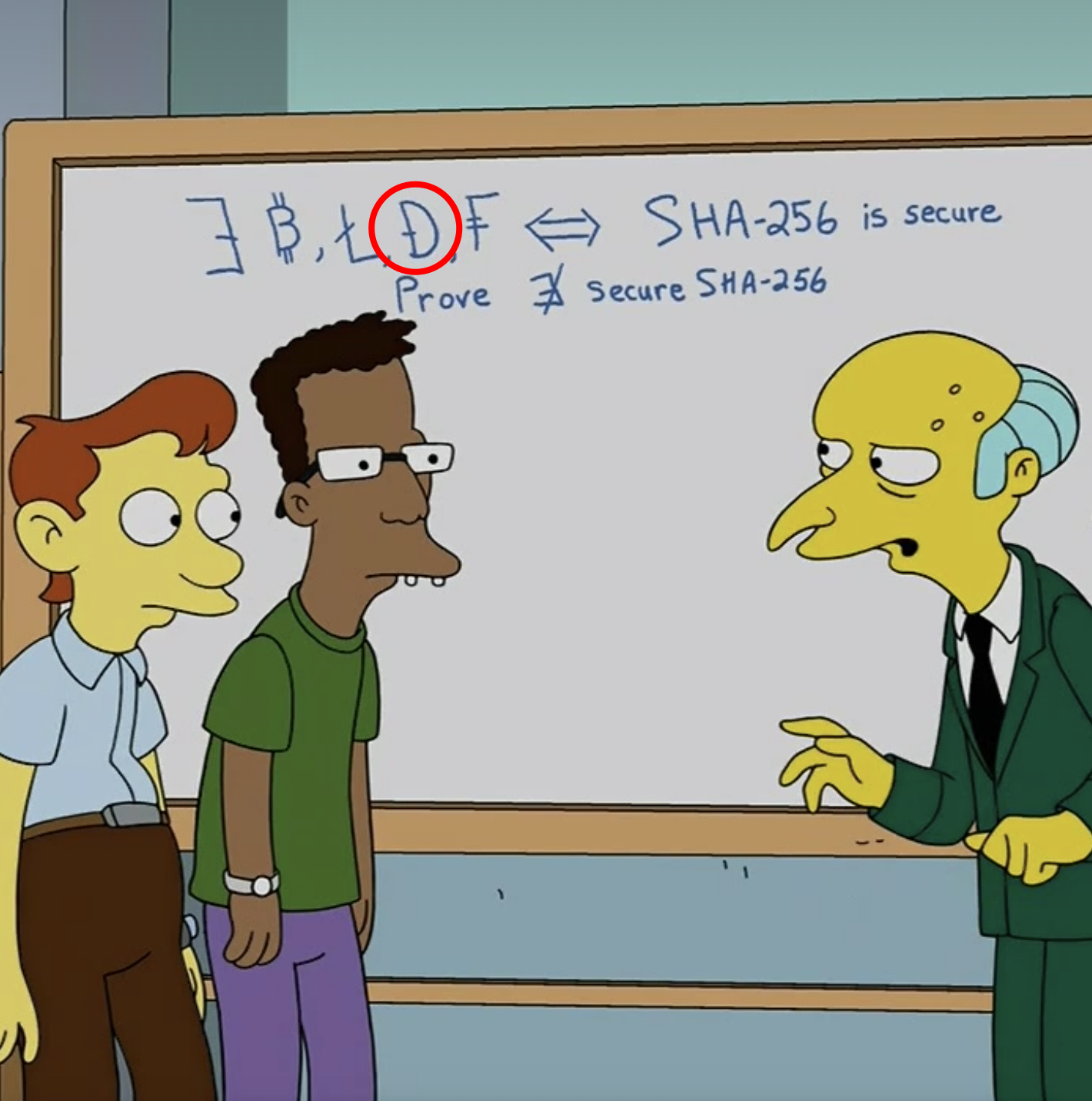 Dogecoin mentioned in The Simpsons!